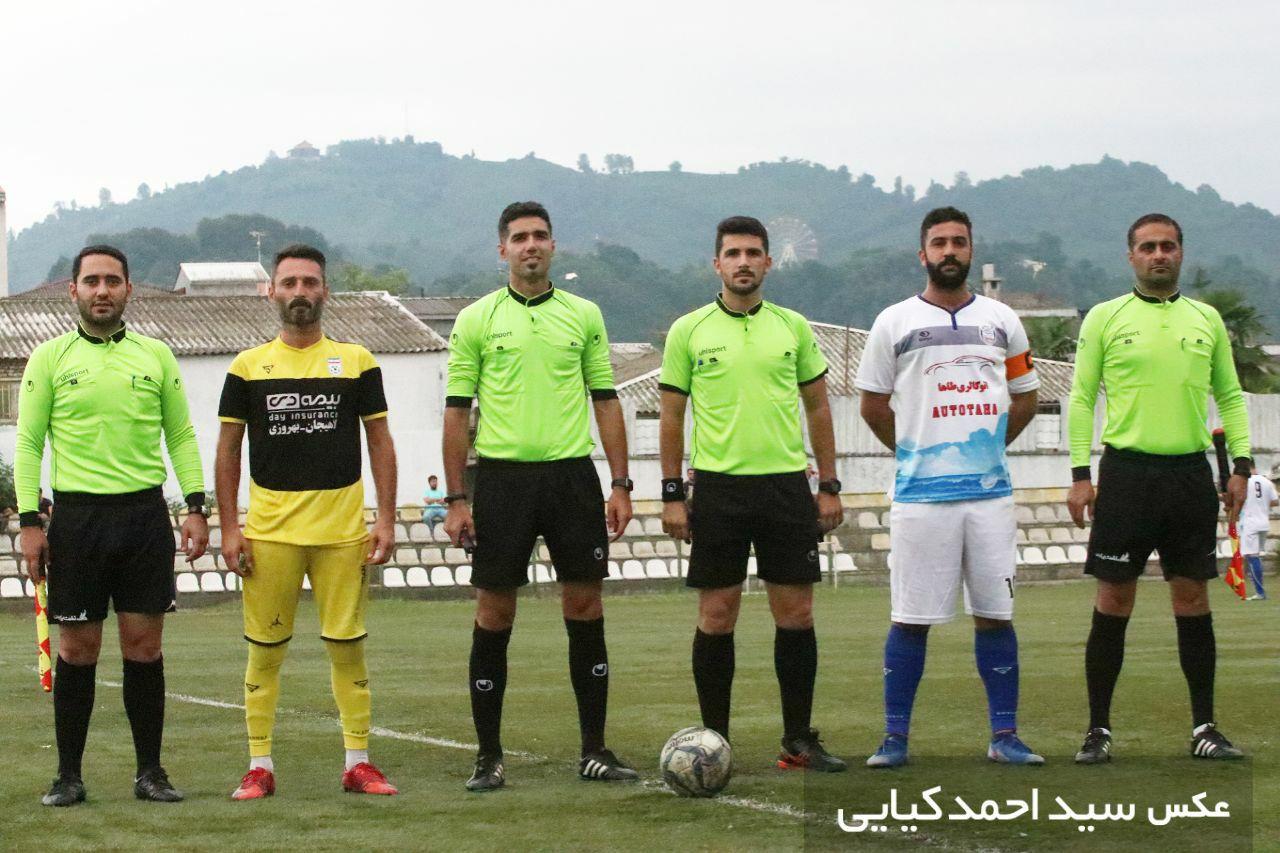 برگزاری مسابقه تیم فوتبال سورنا لاهیجان و ساحل آستانه اشرفیه
